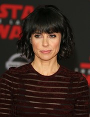 Constance Zimmer sported a curly bob with choppy bangs at the premiere of 'Star Wars: The Last Jedi.'