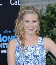 Caroline Sunshine's lovely locks looked soft and chic with a side French braid that cascaded into romantic waves.