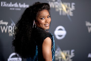 Angela Bassett channeled the '80s with this teased 'do at the premiere of 'A Wrinkle in Time.'