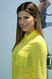 "Actress lake Bell kept things sleek while attending the ""Shrek Forever After"" premiere."