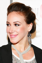Actress Haylie Duff showed off her elegant side at the Tribeca Film Festival. She paired her loose bun with a pair of dangling chain earrings.