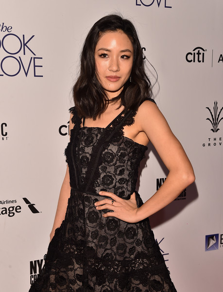 More Pics of Constance Wu Medium Wavy Cut (5 of 10) - Constance Wu Lookbook - StyleBistro [the book of love,the book of love,clothing,dress,fashion model,hairstyle,fashion,beauty,shoulder,little black dress,long hair,cocktail dress,constance wu,arrivals,california,los angeles,the grove,electric entertainment,premiere]