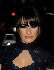 Lea Michele played up her beautiful brown eyes at the premiere of FX's 'American Horror Story'. She chose a deep sapphire blue liner to create some sultry drama.