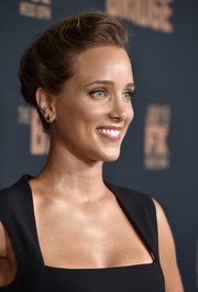 Jenny Pellicer swept her hair back into a romantic updo for the premiere of 'The Bridge.'