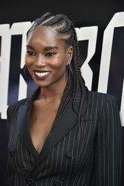 Damaris Lewis looked cool with her long cornrows at the premiere of 'BlacKkKlansman.'