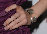 Michelle Monaghan donned a diamond encrusted silver cuff bracelet to the 'Somewhere' premiere.