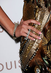 Playboy model Karissa Shannon showed off a statement ring, which featured her name in encrusted diamonds.