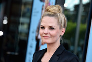 Jennifer Morrison went for funky styling with this top knot during the premiere of 'Wish I Was Here.'