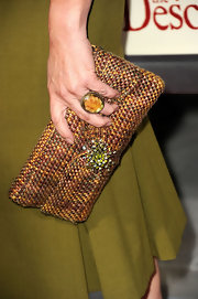 Actress Marcia Gay Harden wore a large citrine ring at the premiere night of 'The Descendants.'
