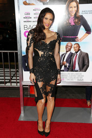 Paula Patton sizzled in a see-through lace LBD at the premiere of 'Baggage Claim.'