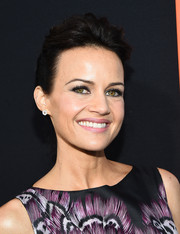 Carla Gugino sported a simple loose bun at the premiere of 'Me and Earl and the Dying Girl.'