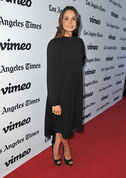 Mia sported an LBD with a twist when she wore this long-sleeve smock dress to the premiere of 'Some Girl(s).'