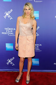Lucy Punch looked breezy yet sophisticated in a pink dress featuring a sheer bodice at the premiere of 'A Good Old Fashioned Orgy.'