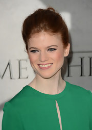 Rose Leslie kept her hair swept back in a stunning French Twist while at the 'Game of Thrones' Season 3 premiere.