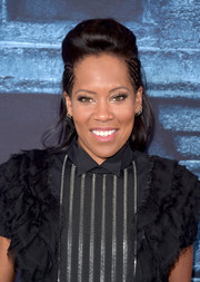 Regina King attended the 'Game of Thrones' season 6 premiere wearing a cool half-up pompadour with braided sides.
