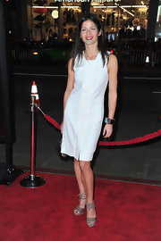 Jill Hennessy topped off her red carpet ensemble with platform sandals.