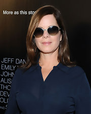 Marcia Gay Harden had a pair of oval sunnies on at the red carpet premiere of 'The Newsroom.'