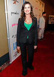 Kat Coiro looked sharp at the 'L!fe Happens' premiere in this black pantsuit.