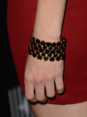 Aimee Teegarden chose this golden heart link bracelet to add just a touch of whimsy and flirty flare to her red carpet look.