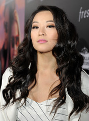 Arden Cho wore her hair loose in a tumble of curls during the premiere of 'The Choice.'