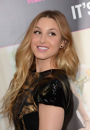 Whitney Port added a lovely pair of jet crystal Piano earrings to her look at the premiere of 'What to Expect When You're Expecting.'