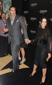 Lisa Bonet arrived at a screening of 'Conan the Barbarian' wearing a form-fitting frock with ruching.