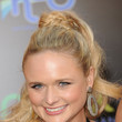 Miranda Lambert's Curly, Braided-Base Ponytail