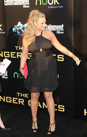 Miranda Lambert wore this chiffon LBD to the LA premiere of 'The Hunger Games.'