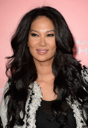 Kimora Lee Simmons looked fab at the 'Catching Fire' LA premiere with her flowing waves.