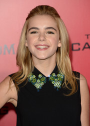 Kiernan Shipka topped off her look with a retro half-up 'do when she attended the 'Catching Fire' LA premiere.