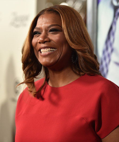 Queen Latifah looked lovely with her feathered waves at the 'Perfect Match' premiere.