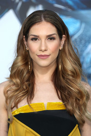 Allison Holker flaunted a perfect feathered flip at the LA premiere of 'Power Rangers.'