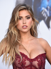 Kara Del Toro amped up the allure with this messy wavy 'do paired with a sheer dress at the LA premiere of 'Power Rangers.'