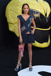 Dania Ramirez went the youthful, flirty route in a lace-accented denim cutout dress by Gosia Baczyńska at the LA premiere of 'Power Rangers.'