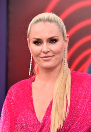 Lindsey Vonn opted for a sleek ponytail when she attended the premiere of 'The Spy Who Dumped Me.'