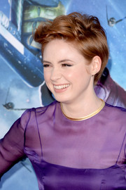 Karen Gillan looked hip with her disheveled short 'do at the 'Guardians of the Galaxy' premiere.