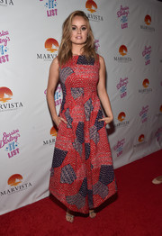 Debby Ryan kept it breezy in a patchwork maxi dress during the premiere of 'Jessica Darling's It List.'