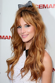 Bella Thorne brightened up her look with jewel-tone eyeshadow when she attended the 'Iceman' premiere.