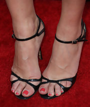 Crystal Allen wore a pair of sexy black sandals to the premiere of 'Comic-Con Episode IV: A Fan's Hope.'