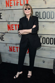 Sissy Spacek attended the premiere of 'Bloodline' wearing a classic black pantsuit.