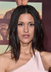 Julia Jones wore her hair in a modern shag when she attended the premiere of 'The Ridiculous 6.'