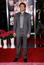 Bradley paired this grey suit with a matching grey shirt.