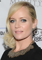 Highlights of metallic silver shadow brightened Marley Shelton's big blue eyes at the premiere of The Mighty Macs.'