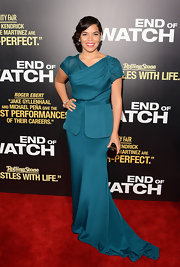America Ferrera took the peplum to such an elegant level at the 'End of Watch' premiere.