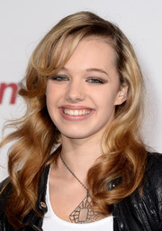 Sadie Calvano looked sweet and youthful with her shoulder-length waves at the premiere of 'Justin Bieber's Believe.'