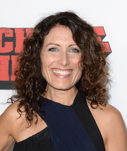 Lisa Edelstein wore her hair down in high-volume curls during the premiere of 'Machete Kills.'