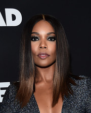 Gabrielle Union went heavy on the eyeshadow for an edgy beauty look.
