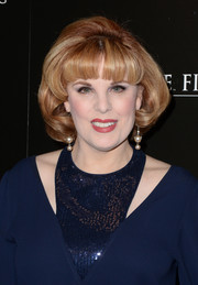 Kat Kramer attended the premiere of 'The Chaperone' wearing a teased bob with bangs.