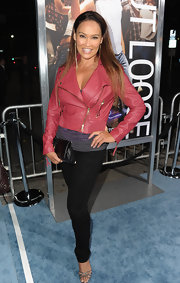 Tia Carrere showed off her shapely legs in a pair of black skinnies at the premiere of 'Footloose.'