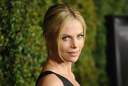 Charlize Theron wore her hair in a sleek, classic bun at the premiere of 'Young Adult.'